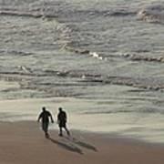 Myrtle Beach Walking Buddies Art Print