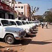 Mysore Taxis Art Print