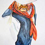 Mysterious Cowboy Art Print