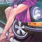 Mystery On Peter's Porsche Art Print