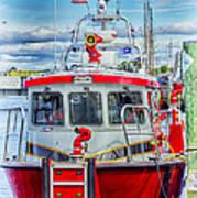 Mystic Fireboat Art Print