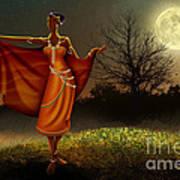 Mystic Moonlight V2 Art Print by Bedros Awak