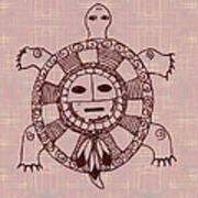 Mystic Turtle Art Print