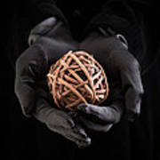 Mystical Hands Holding A Woven Ball Art Print