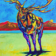 Mythical Elk Art Print