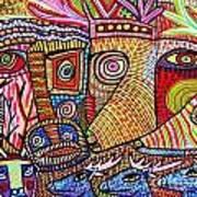 Mythical Zebra Deer Tribe Art Print
