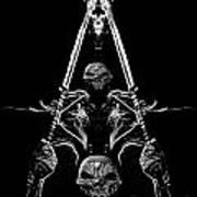 Mythology And Skulls 2 Art Print