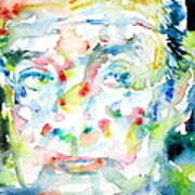 Nabokov Vladimir - Watercolor Portrait Art Print