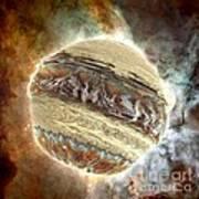 Nacre Planet Art Print by Bernard MICHEL