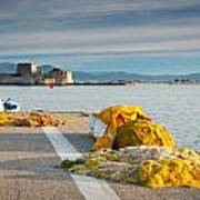 Nafplio Fishing Harbour Art Print