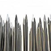 Nails Array Abstract Macro Art Print
