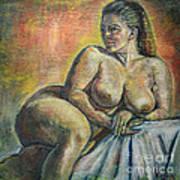 Naked Paris Art Print