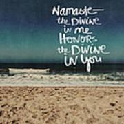 Namaste Waves  Art Print