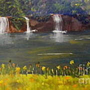Nandroy Falls In Queensland Art Print