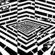 Nano Curcuits Maze  Art Print
