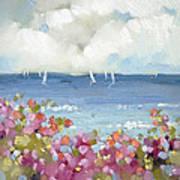 Nantucket Sea Roses Art Print