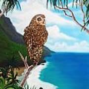 Napali Pueo Art Print