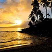 Napili Sunset Evening  Art Print