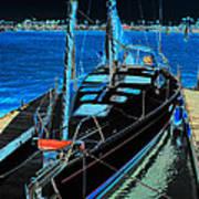 Naples Yacht Art Print