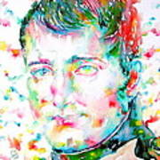 Napoleon Bonaparte - Watercolor Portrait Art Print