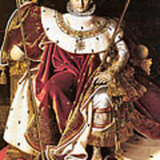 Napoleon I On His Imperial Throne Art Print