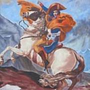 Napoleon On A Horse In The Alps Art Print