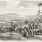 Napoleon's Army Crosses The  Neman Art Print