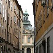 Narrow Road Stockholm Art Print
