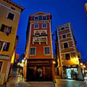 Narrow Streets And Buildings - Rovinj Croatia Art Print