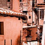 Narrow Streets Of Albarracin  Art Print