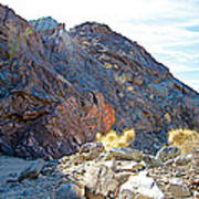 Narrowing Of Trail In Big Painted Canyon Trail In Mecca Hills-ca Art Print