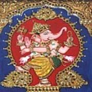 Narthana Ganapathi Art Print