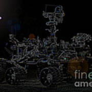Nasa Vehicle System Vstb Rover On The Dark Side Art Print