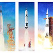 Nasa Rockets Art Print