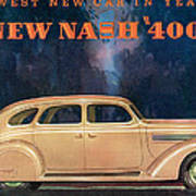 Nash 400 - Vintage Car Poster Art Print