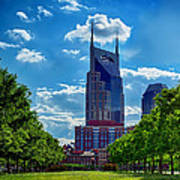 Nashville Batman Building Landscape Art Print