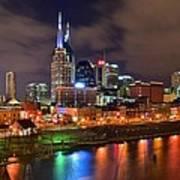Nashville Is A Colorful Town Art Print