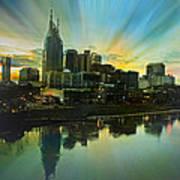 Nashville Over The Cumberland Art Print