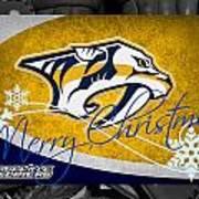Nashville Predators Christmas Art Print