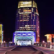 Nashville Sight Night Skyline Pinnacle Panorama Color Print by Jon Holiday