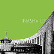 Nashville Skyline Country Music Hall Of Fame - Olive Art Print by DB Artist