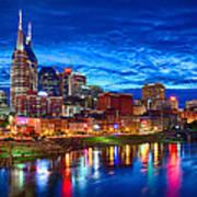 Nashville Skyline Art Print by Dan Holland
