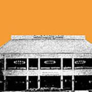 Nashville Skyline Grand Ole Opry - Orange Art Print by DB Artist