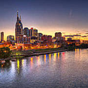 Nashville Skyline Panorama Art Print