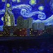 Dedication To Van Gogh Nashville Starry Nights Art Print