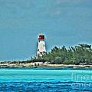 Nassau Bahama Lighthouse Art Print