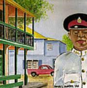Nassau Bahamas Policeman Art Print