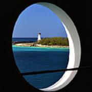 Nassau Lighthouse Porthole View Art Print