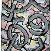 Nassau Message In The Sand  Art Print