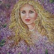 Natalie In Lilacs Art Print